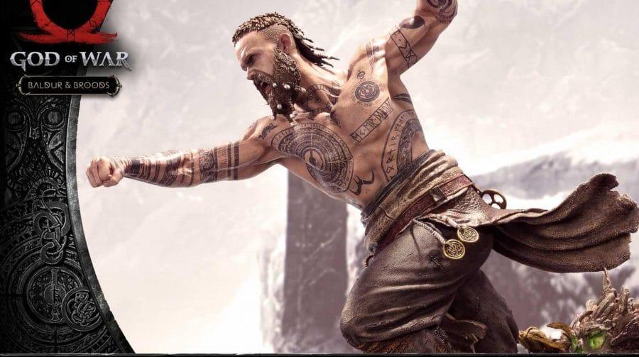 God of War ganhará incrível conjunto de estatuetas de Kratos vs. Baldur