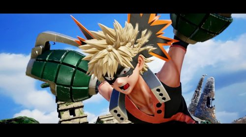 Katsuki Bakugo, de My Hero Academia, chega a Jump Force via DLC