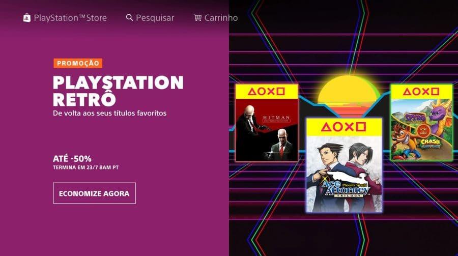 Promoção na PSN! Sony lança ação de descontos PlayStation Retrô