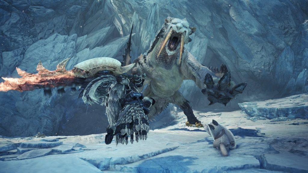 Barioth e seus dentes querem arrancar a pele do jogador