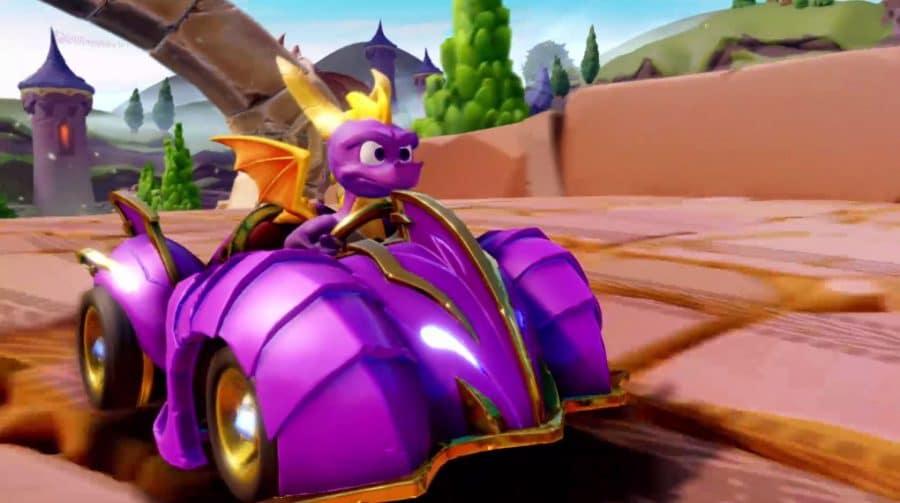 Baita crossover: Spyro será piloto em Crash Team Racing Nitro-Fueled