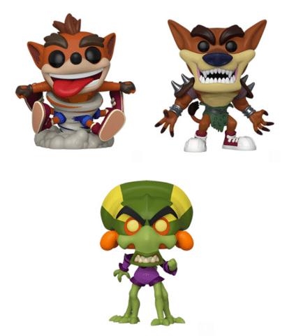 Crash, Tiny e Oxide se juntam ao elenco de Funkos