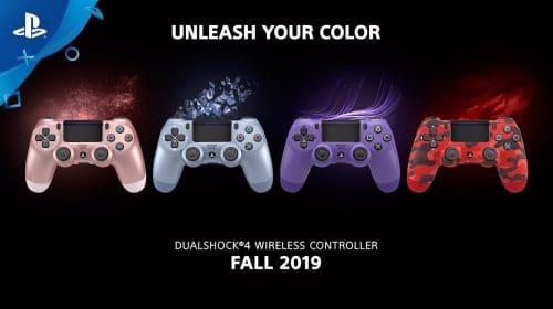 Novos DualShock 4 são anunciados com lançamento em 2019