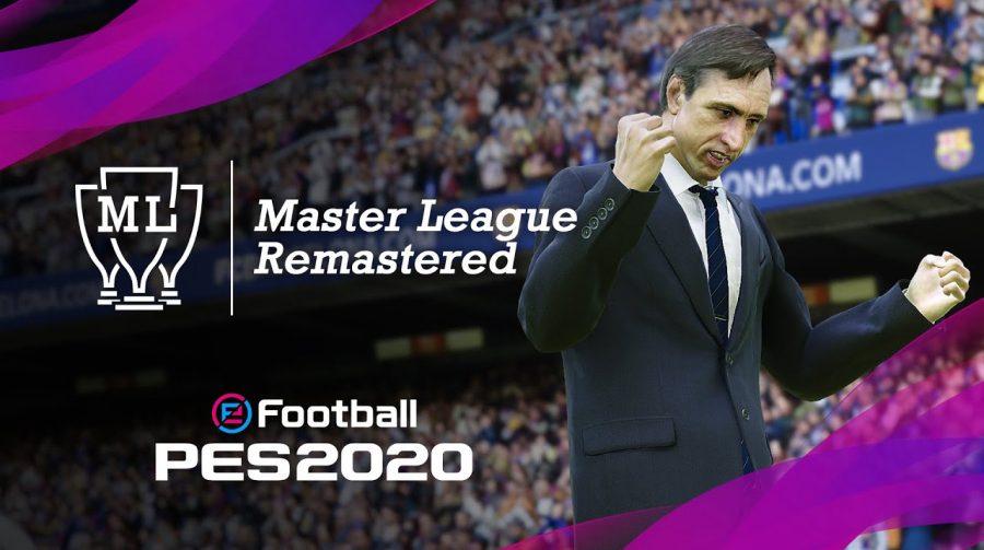 eFootball PES 2020 ganha novo trailer focado na Master League