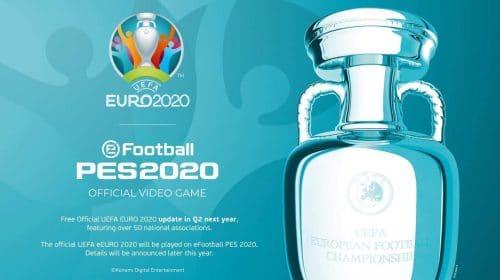 UEFA EURO 2020 chegará ao eFootball PES 2020 em abril