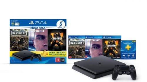 Novo bundle do PS4 SLIM chega ao Brasil no final de agosto
