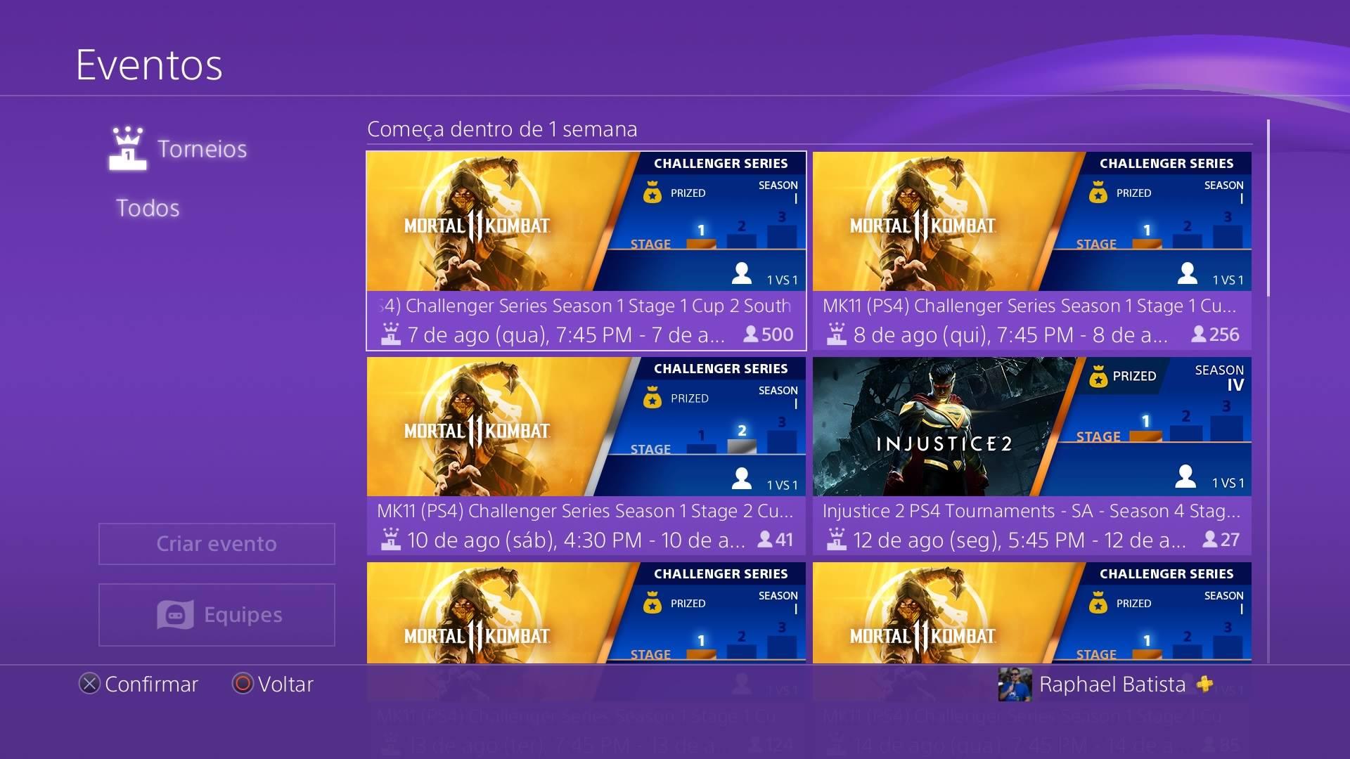 Mortal Kombat 11 PS4 Tournaments
