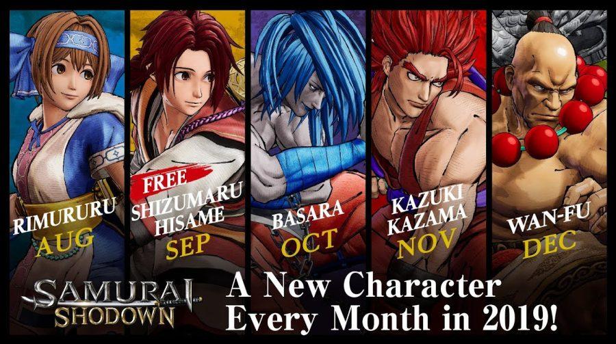 Samurai Shodown receberá 5 novos personagens até o fim do ano