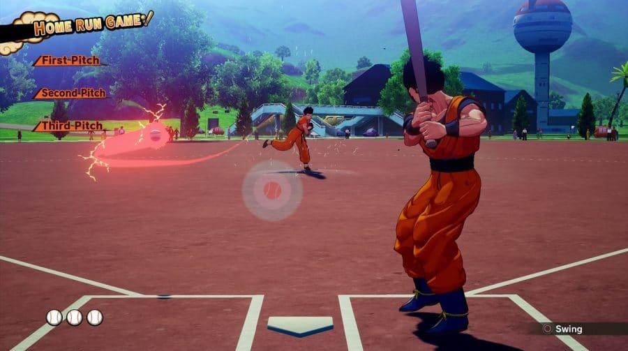 Home run, Saiyajin! Dragon Ball Z: Kakarot terá mini-game de baseball