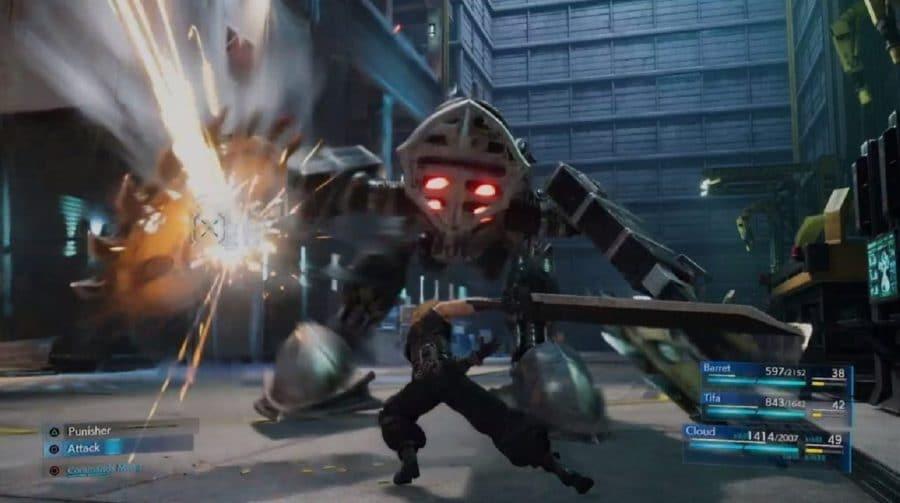 Final Fantasy VII Remake: novo gameplay mostra boss battle