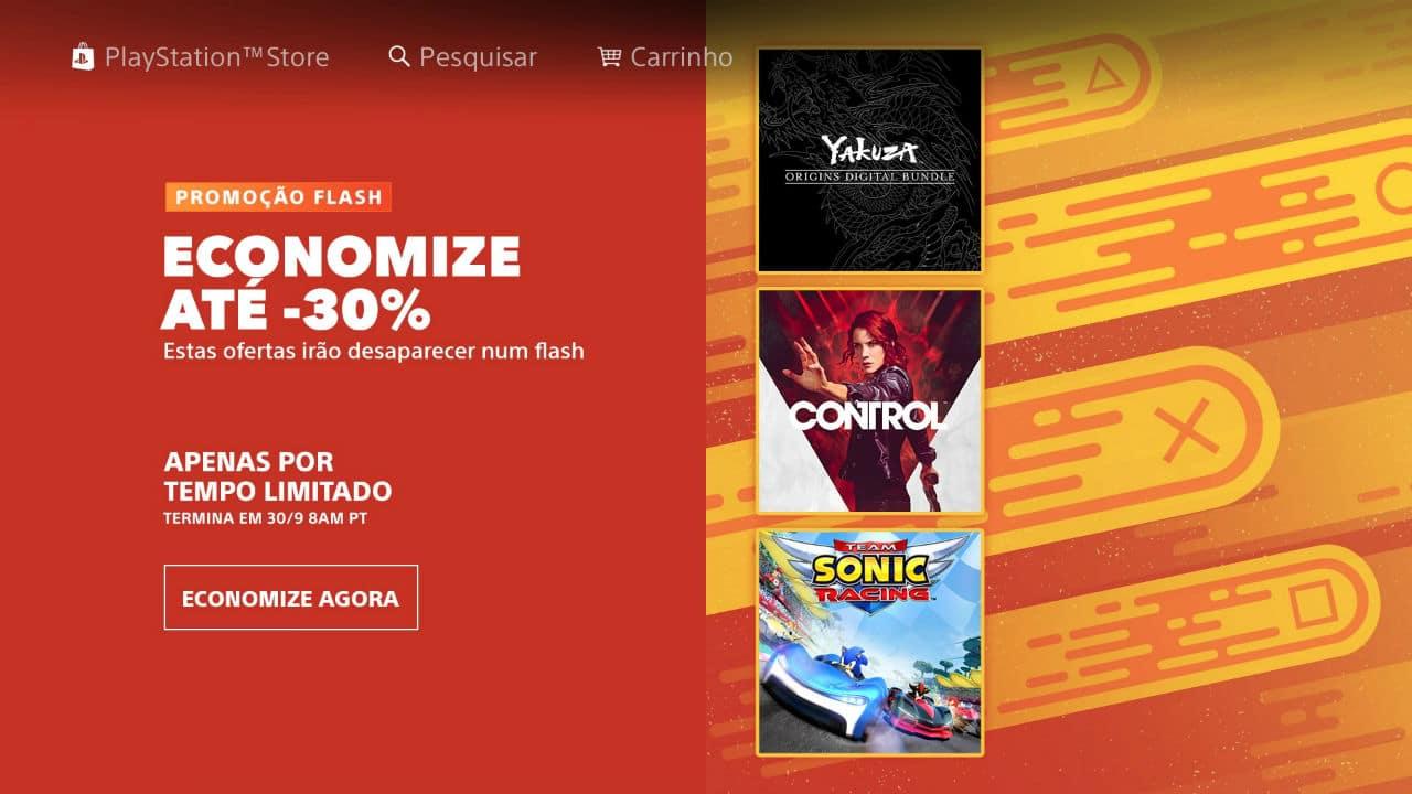 Promoção Flash: Sony oferece jogos com descontos na PS Store