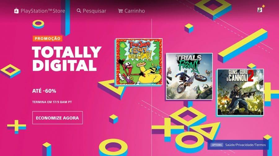 Promoção de jogos digitais na PS Store: até 60% de descontos!