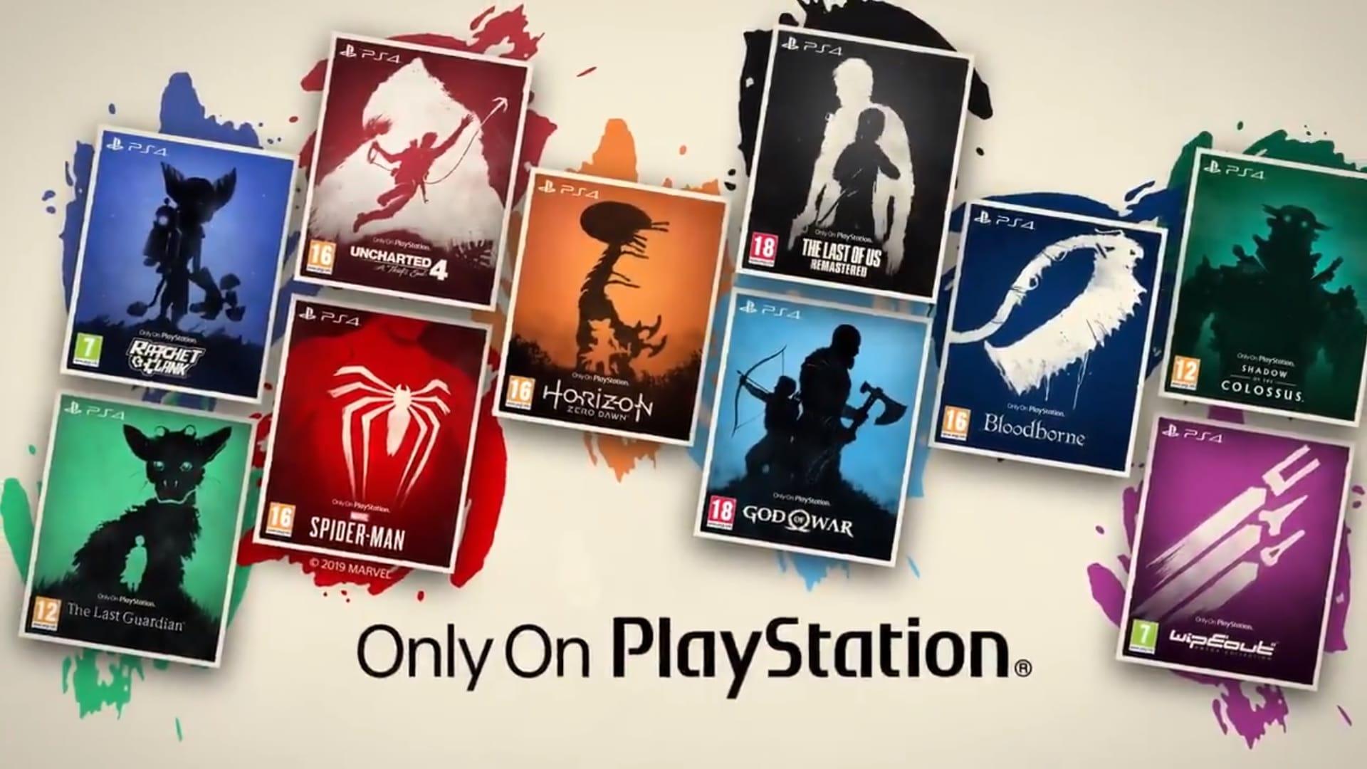 Capas de jogos exclusivos da PlayStation, que também estão disponíveis no PS5