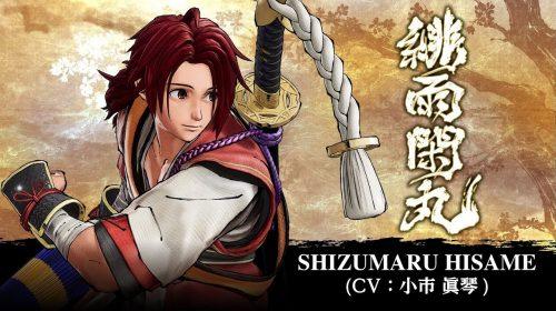 Shizumaru Hisame está disponível gratuitamente em Samurai Shodown