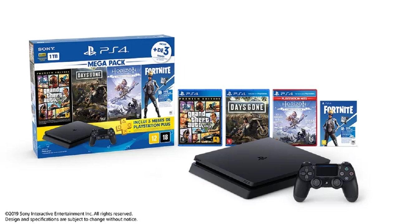 Sony anuncia bundle PlayStation 4 Megapack para o Brasil