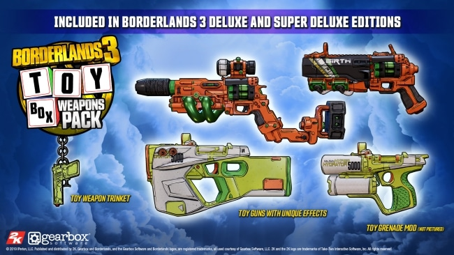 Toy Box Borderlands 3