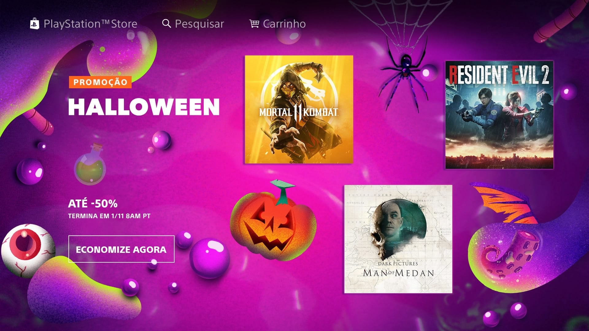 Promoção de Halloween: Sony baixa vários preços dos jogos na PS Store