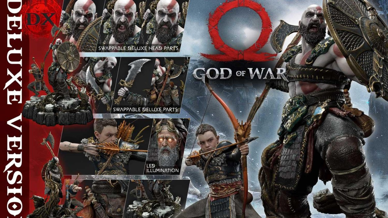 Prime 1 Studio revela estatueta de Kratos de quase R$ 6 mil