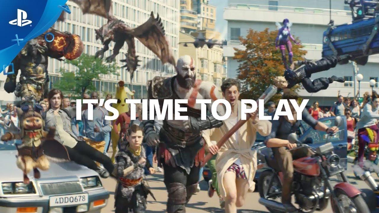 It's Time to Play! Propaganda da PlayStation coloca personagens dos games no mundo real