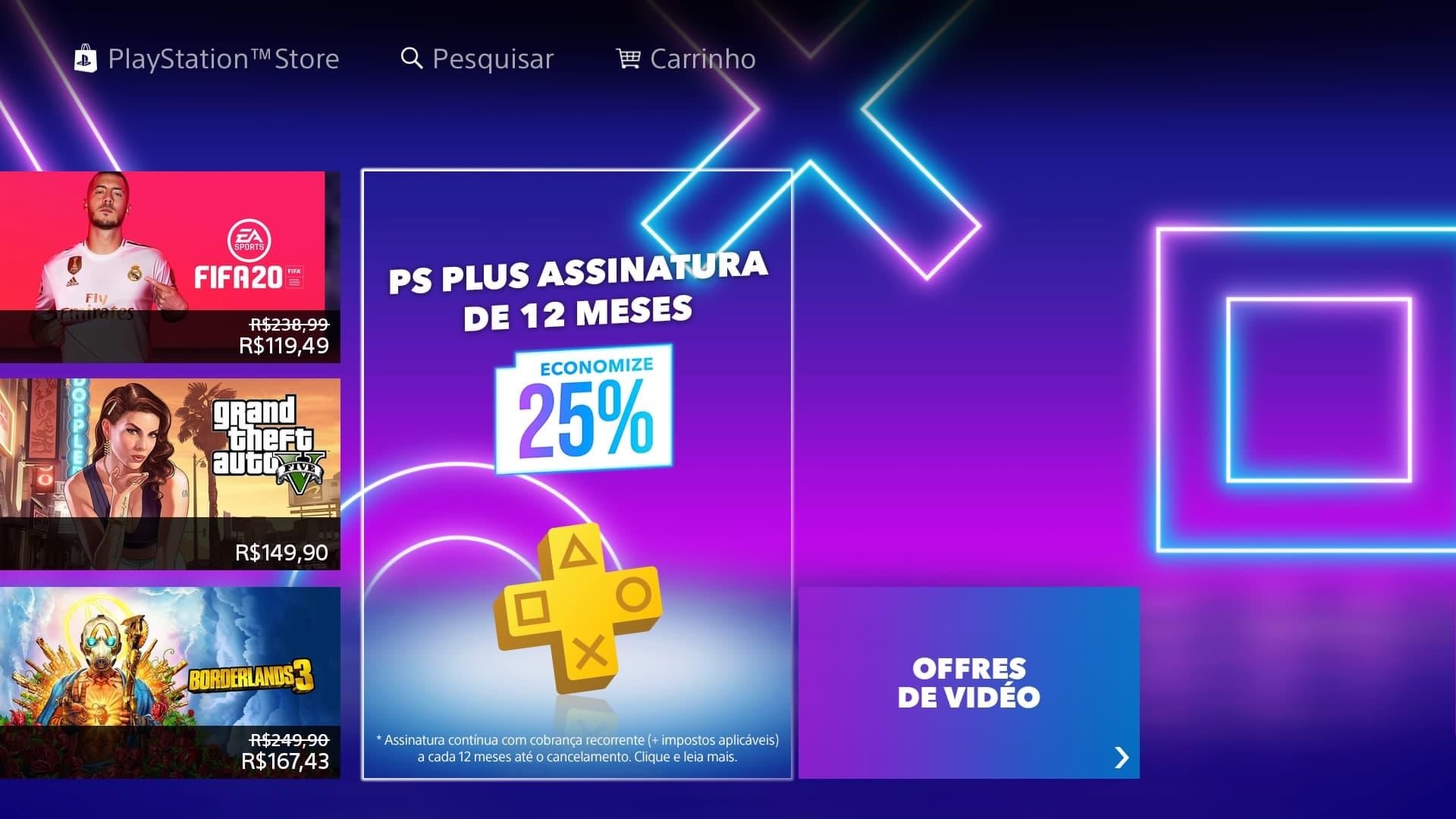 Black Friday: Sony oferece 25% de descontos para assinatura PS Plus