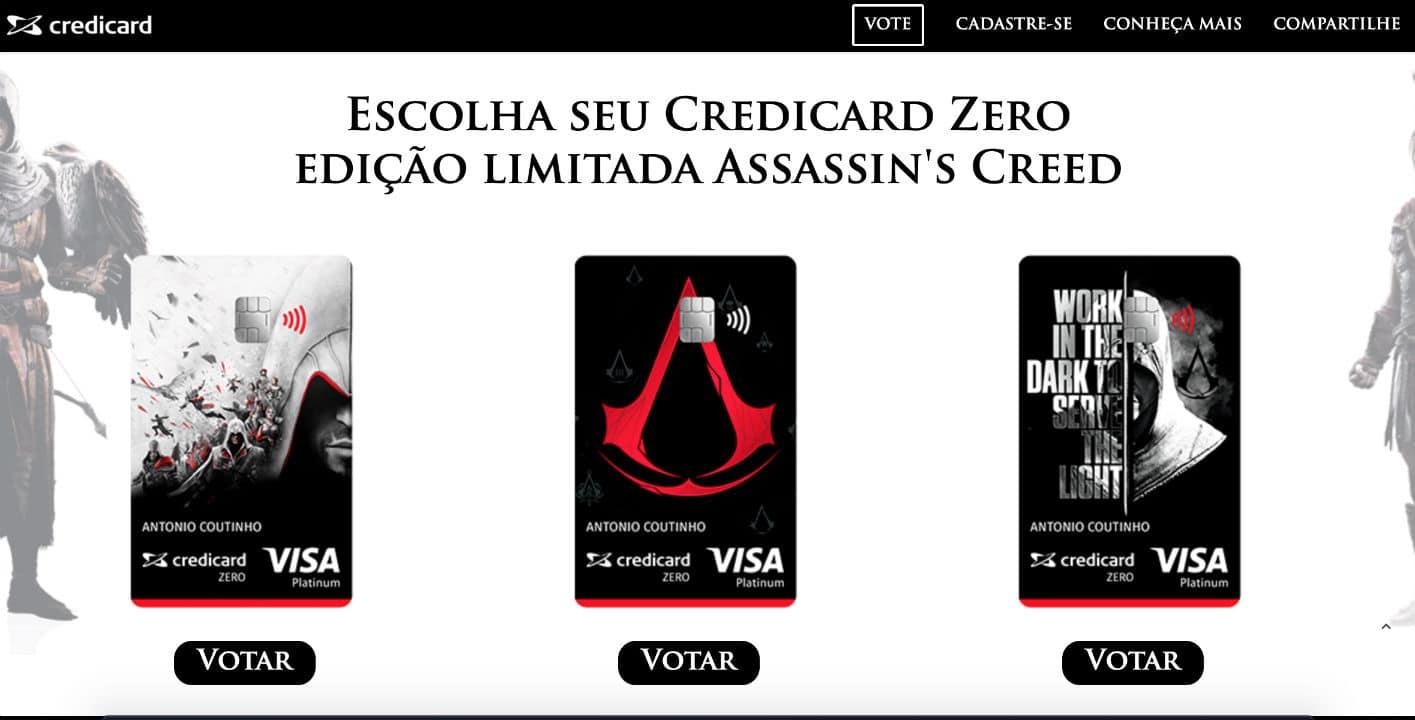 Ubisoft fará cartão de crédito personalizado de Assassin's Creed