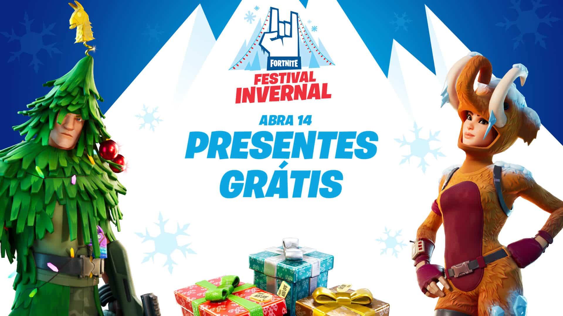 Fortnite recebe evento de Natal com presentes gratuitos