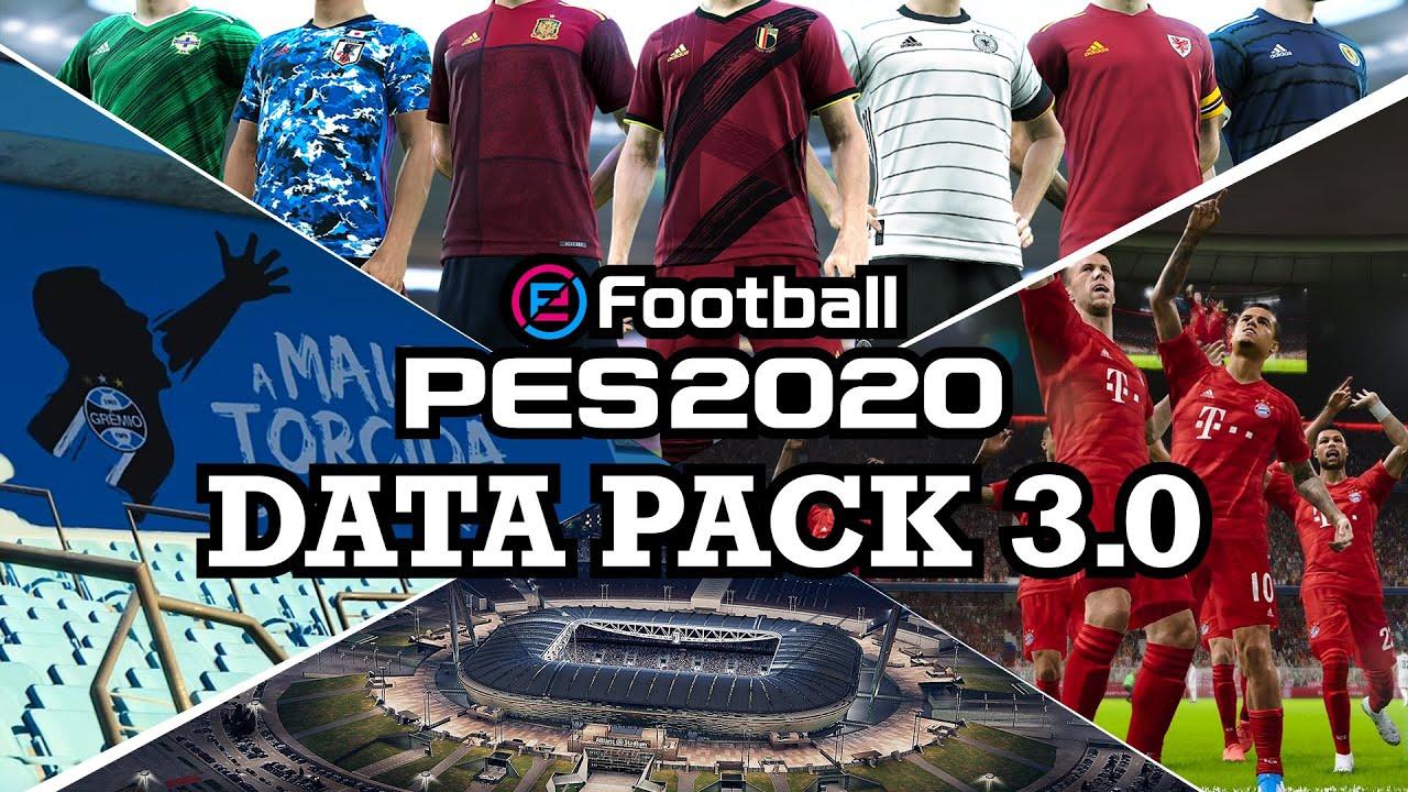 Data Pack 3.0 traz Arena do Grêmio e Bruno Henrique ao PES 2020