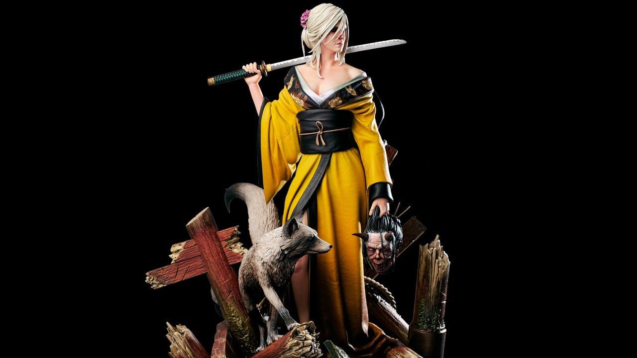 The Witcher: CD Projekt RED revela estatueta de Ciri usando um kimono