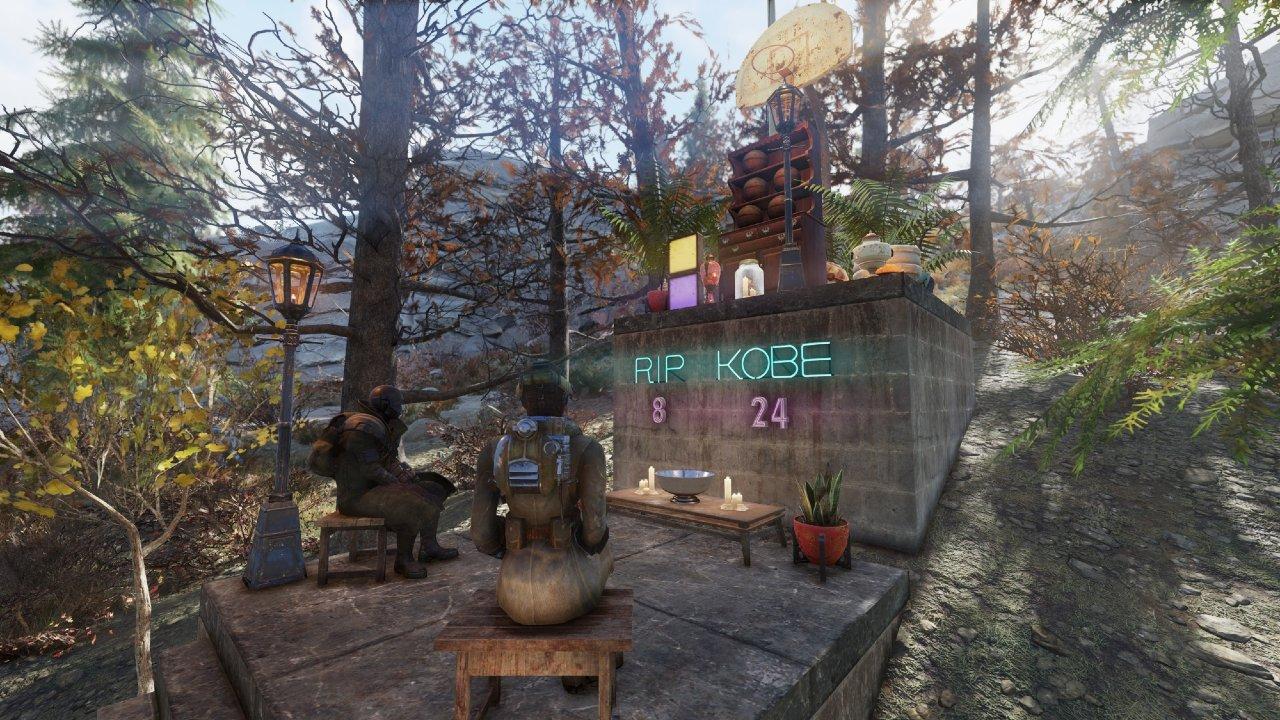 Jogador de Fallout 76 faz tributo a Kobe Bryant no jogo