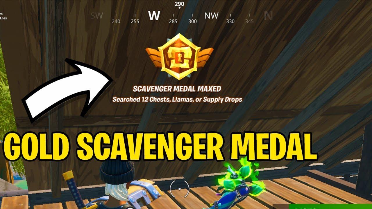 Fortnite: como conseguir a medalha dourada de Scavenger