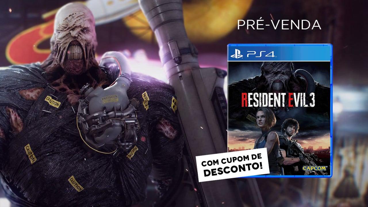 Resident Evil 3: Pré-venda física já disponível com cupom de desconto