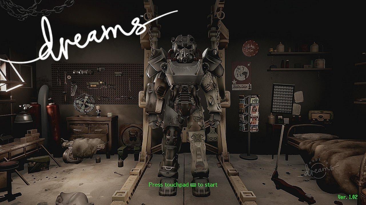 Jogador faz recriação incrível de Fallout 4 em Dreams