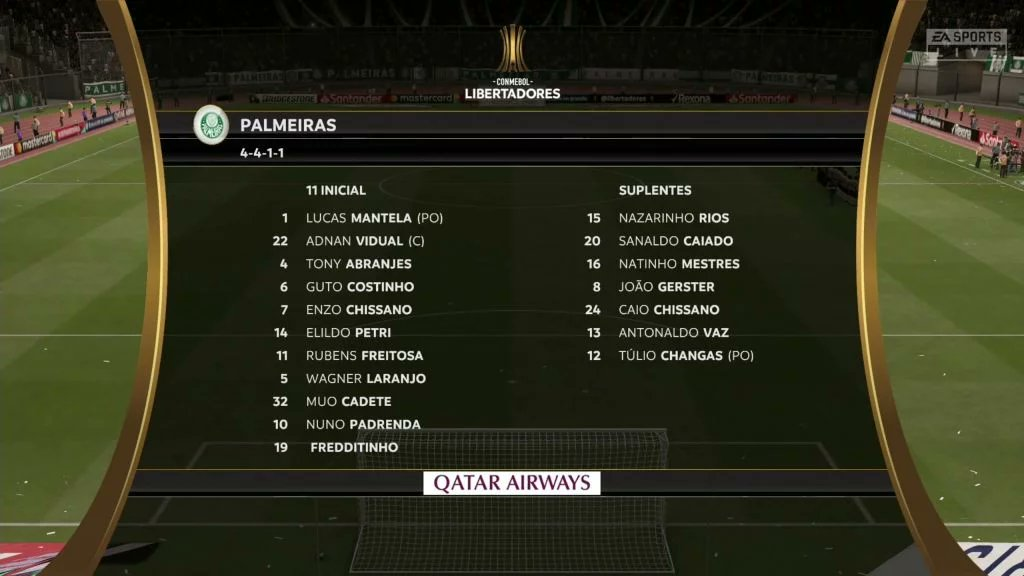 Imagens vazadas indicam jogadores genéricos na Libertadores do FIFA 20
