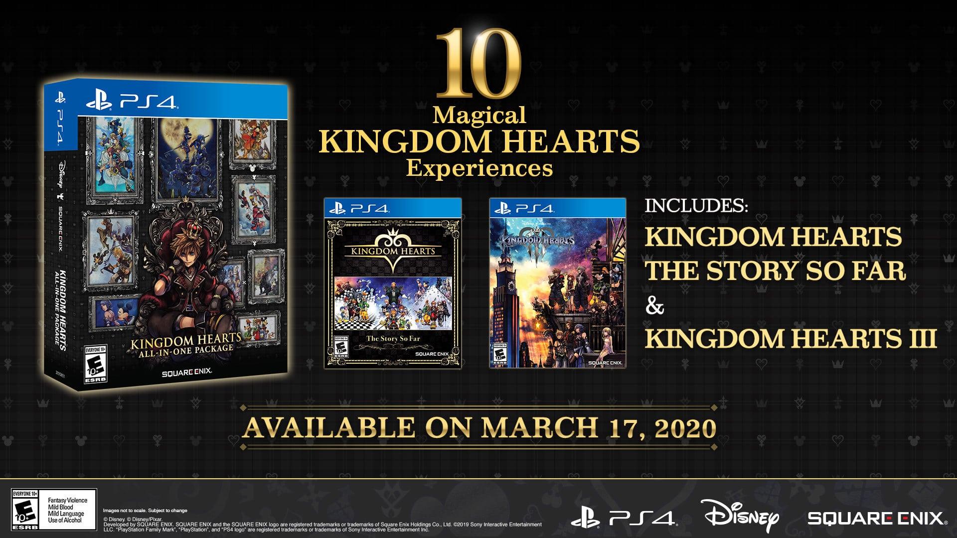 Kingdom Hearts All-In-One Package ganhará edição física