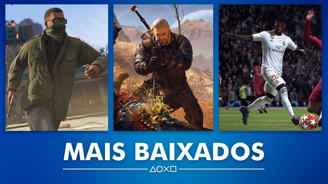 Sony revela os jogos mais baixados de Janeiro na PS Store do Brasil