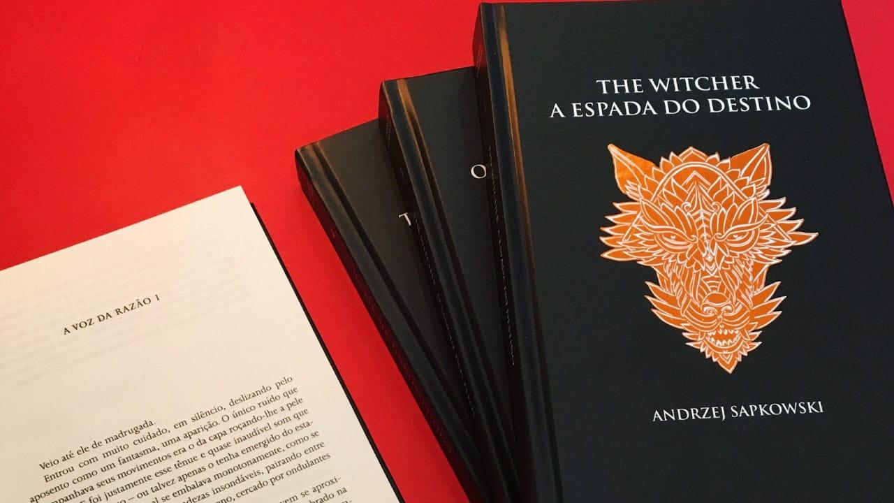 Livros The Witcher capa dura desconto em livros