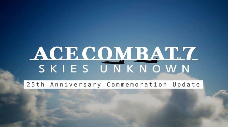Ace Combat 7: Skies Unknown receberá update em celebração ao 25º aniversário da série