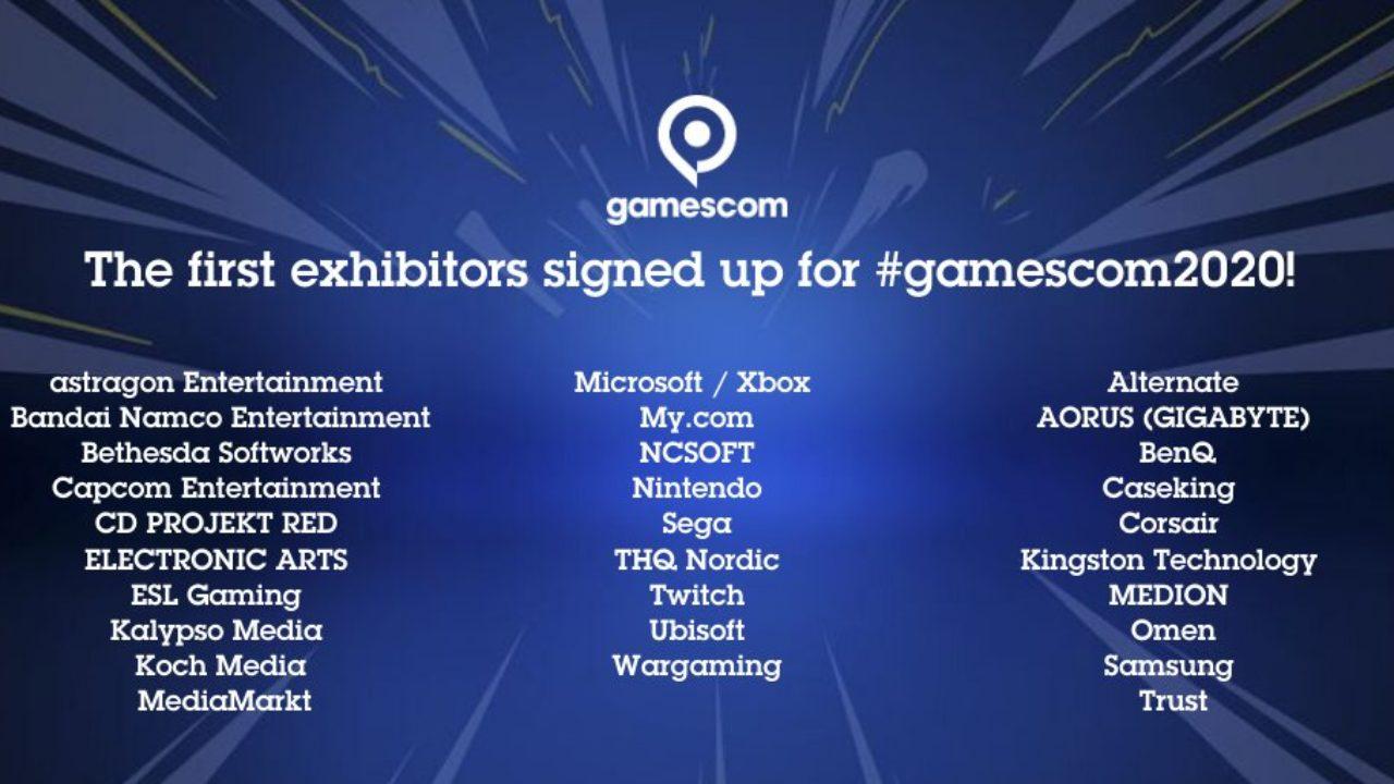 Empresas confirmam participação na Gamescom 2020; Sony ainda ausente
