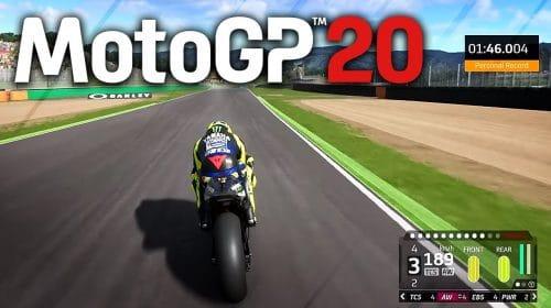 Valentino Rossi é destaque em primeiro gameplay de MotoGP 20