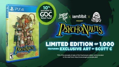 Psychonauts ganhará jogos em mídia física limitada