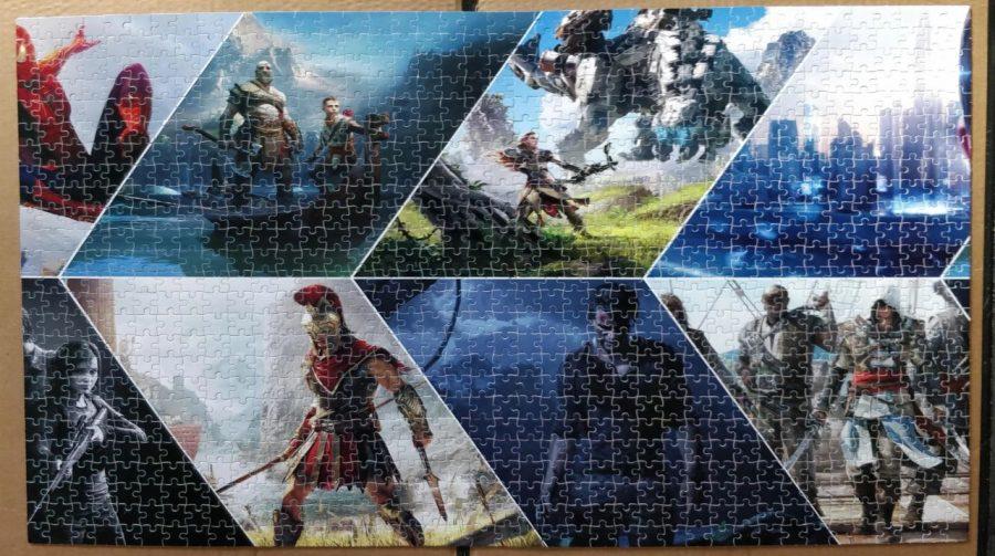 Fã cria quebra-cabeça de 1000 peças com jogos de PS4