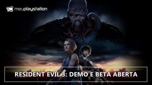 Resident Evil 3 Demo & Resistance Beta aberto