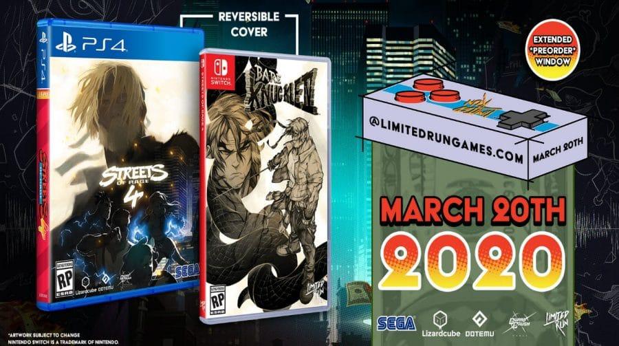 Streets of Rage 4 ganha edições especiais em mídia física