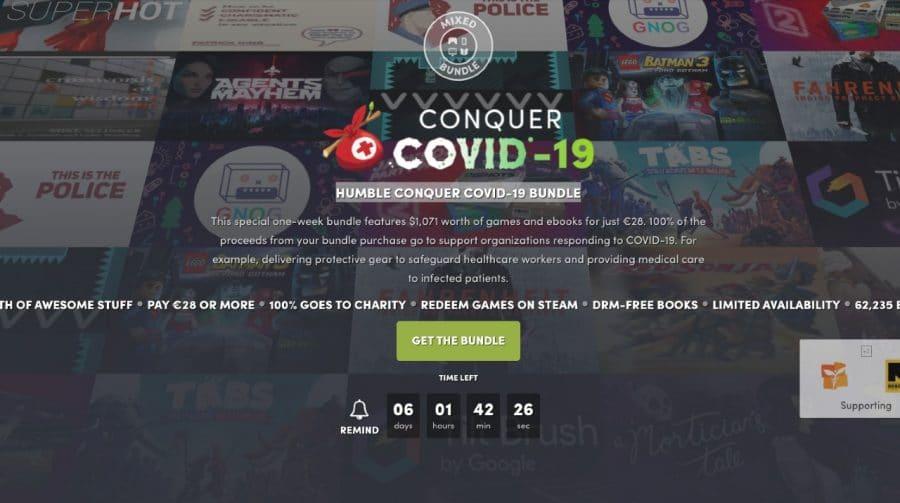 Humble Bundle lança pacote para ajudar no combate contra o COVID-19