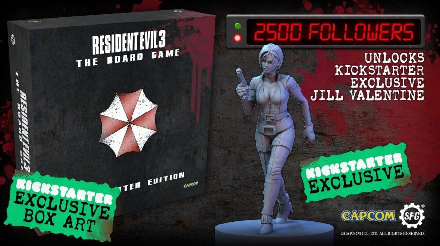 Jogo de tabuleiro de Resident Evil 3 busca financiamento no Kickstarter