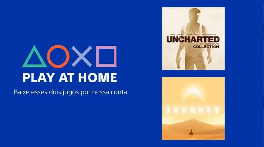 Play At Home: Sony está dando Uncharted e Journey para as pessoas ficarem em casa