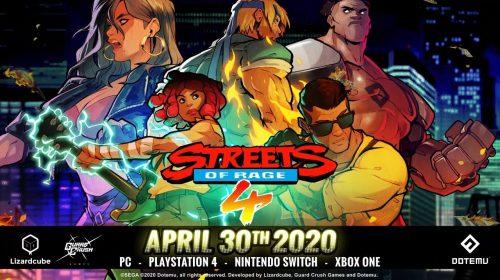 Trailer revela: Streets of Rage 4 chega em 30 de Abril