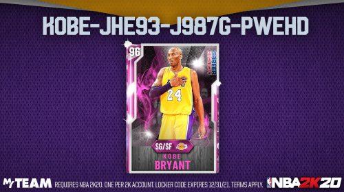 Com tributo emocionante, NBA 2K20 libera carta de Kobe Bryant