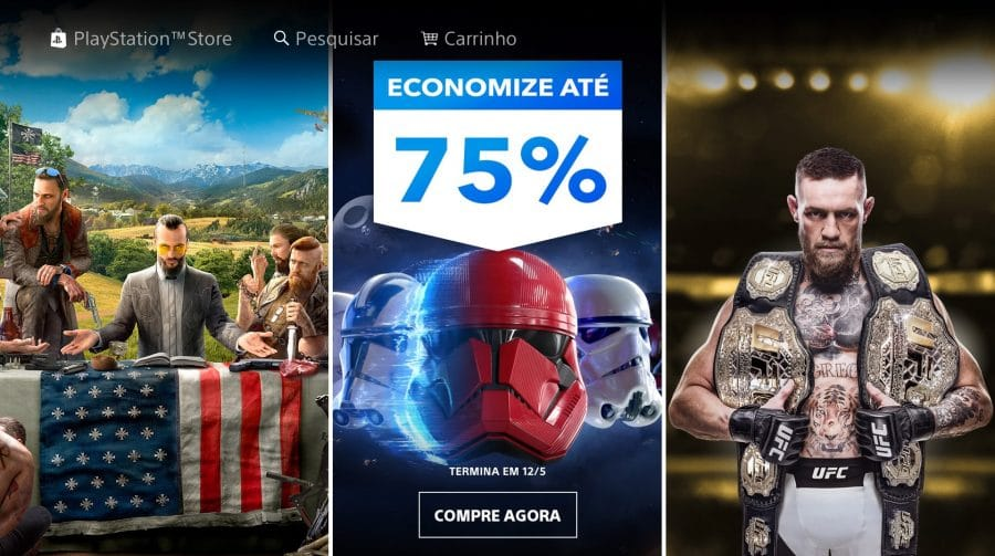 Economize até 75%: Sony lança nova promoção de jogos na PS Store