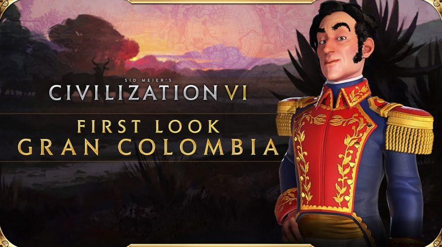Trailer revelada chegada de Simón Bolívar a Civilization VI